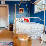 Kid's bedroom gold pouf