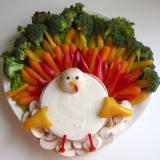 Veggie platter turkey