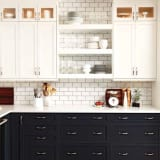 kitchen cabinets small in the mix 20 kitchens with a combination of cabinets and 3241