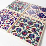 Turkish tile coasters
