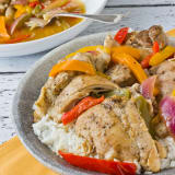 Summer Recipe: Braised Chicken Thighs with Bell Peppers and Onions
