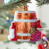 Wine barrel ornament