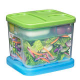 Leak-proof salad containers