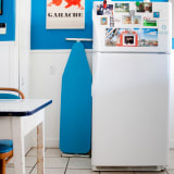 A Belizean Blue Rental Kitchen in Texas