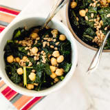 Kale, Farro, and Chickpea Salad