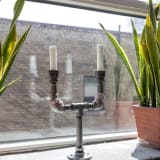 Pipe candleholder
