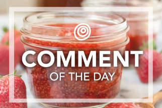 Strawberry jam - Comment of the Day