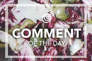 Radicchio salad with green olives - Comment of the Day