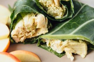 Collard Green Chicken Salad Wraps