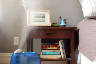 humidifier bedside nightstand bedroom