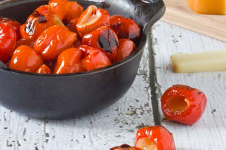 Easy Entertaining Recipe: Grilled Peppadews with Smoked Mozzarella