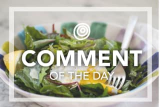 Poached egg on salad - Comment of the Day