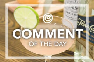 Cocktail in a couple glass - Comment of the Day