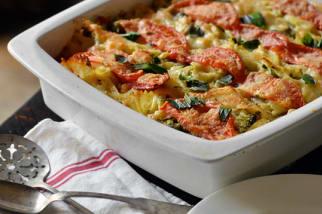 Tomato, Broccoli & Mozzarella Pasta Casserole