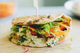 Naan Veggie Sandwich