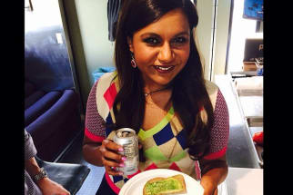 Mindy Kaling eating avocado toast