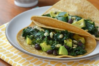 Easy Dinner Recipe: Kale and Black Bean Tacos with Chimichurri