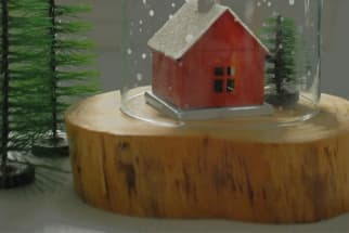 DIY Etched Glass Snowglobe Craft Project