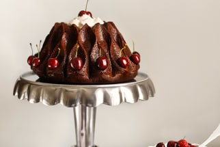 Chocolate and Cherry Bundt