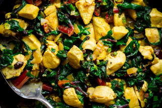 Skillet Chicken and Chard