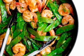 15-Minute Shrimp, Snow Pea, and Ginger Stir-Fry