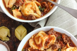 Italian Sausage and Tortellini Soup