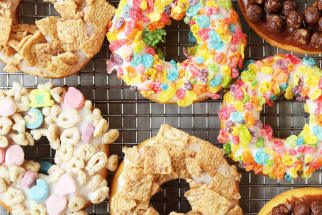 Breakfast Cereal Doughnuts
