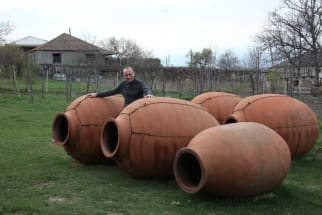 Qvevri clay pots for Georgian Wine