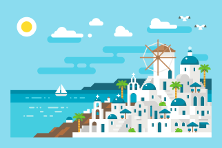 Santorini illustration