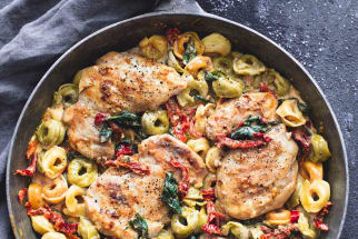 One-Pan Chicken Tortellini