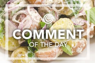 Potato salad with shallots - Comment of the Day