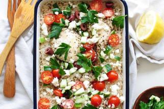 Greek Chicken and Rice Casserole