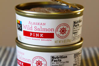 Cans of salmon.