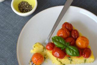 Recipe: Polenta and Roasted Cherry Tomato Tart