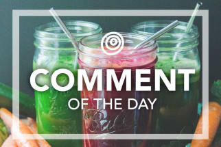 Fresh vegetable juices - Comment of the Day