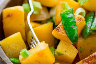 Brown Sugar-Coconut Glazed Rutabaga Salad