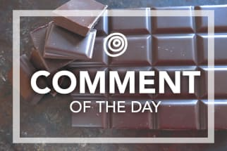 Chocolate bar - comment of the day