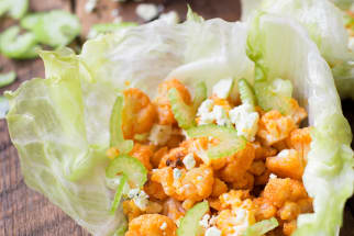 Buffalo Cauliflower Lettuce Wraps