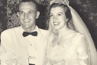 1955 wedding couple