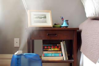 humidifier bedside nightstand bedroom