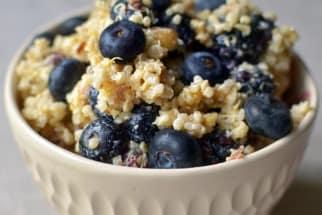 Breakfast Grain Salad with Blueberries, Hazelnuts & Lemon