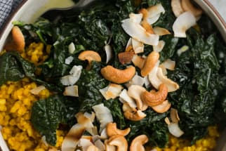 Turmeric Rice with Coconut and Kale