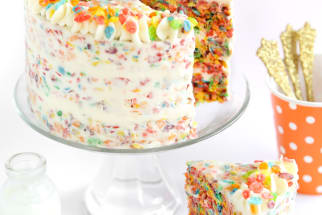 Fruity Pebbles Crispy Treat Cake