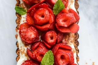 Strawberry Rose Tart