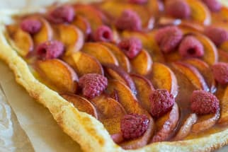 Peach and Raspberry Tart