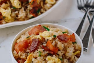 Bacon and egg fried rice