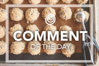 Comment of the Day - Ice cream scoop with cookie dough