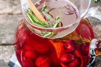 Sparkling Cherry Rose Sangria