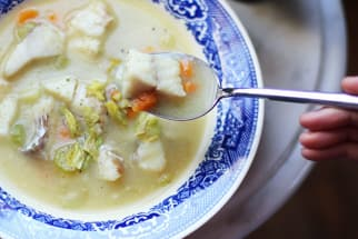 Light, Creamy & Dairy-Free Fish Chowder