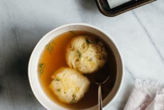 Chickpea Flour Matzo Ball Soup